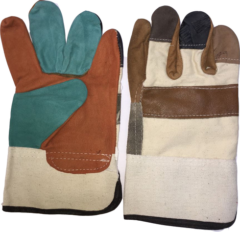 Multi color Double Palm Working Glove Heavy Duty 11