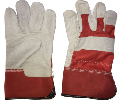 Red Satin Double Palm Working Glove Heavy Duty 11